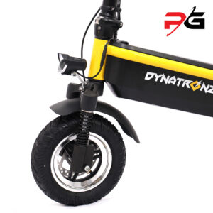 Dynatronz challenger pro electric scooter product shot front wheels